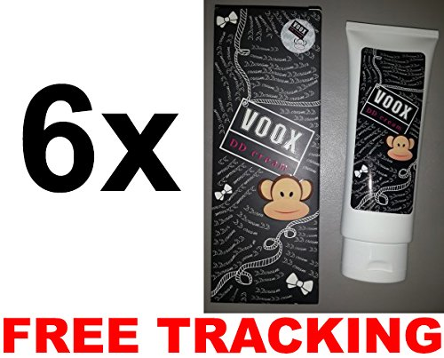 6x135g. VOOX DD CREAM Aura Whitening radiant lotion SPF50 FAST ACTION TRACKING REGISTER