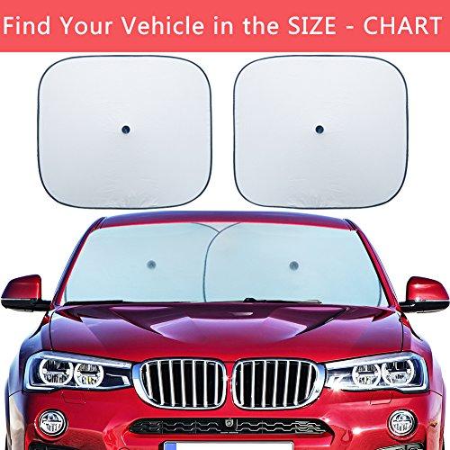 Flyday Car Windshield Sun Shade - Blocks UV Rays and Keep Your Vehicle Cool And Damage Free, Car Sunshade Fits Trucks SUVs Vans