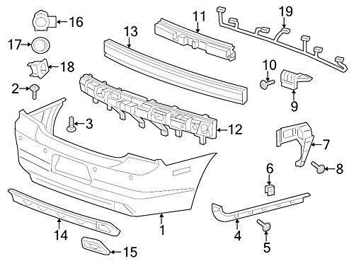 Chrysler, Fascia SUPPORT Bracket, 57010615AF