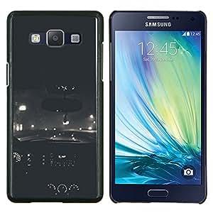 Coches Vignette Road Drive- Metal de aluminio y de plástico duro Caja del teléfono - Negro - Samsung Galaxy A5 / SM-A500