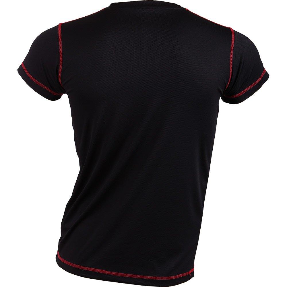 Padel Session Camiseta Tecnica Negro Rojo: Amazon.es: Deportes y aire libre