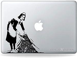 Banksy Sweep It Under Wall Laptop Decal Sticker