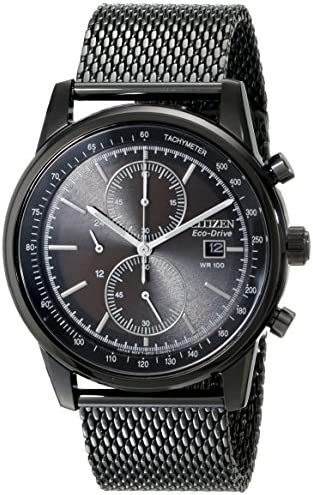 Citizen Eco-Drive Men s CA0338-57E Black Mesh Watch