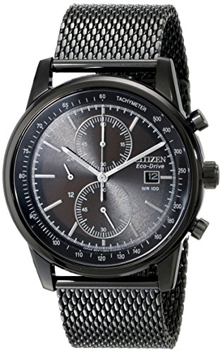 Citizen Men's Chronograph Eco-Drive Black Ion-Plated Stainle