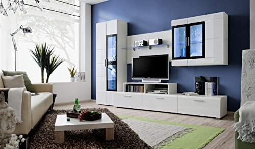 Gloss Wall Unit - Kane 2 Wall Unit/Entertainment Center/Contemporary Design with LED Lights