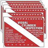 Six Pack Scuba Tank Visual Inspection Sticker VIP