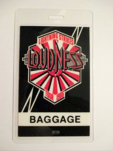 1986 Loudness Laminated Luggage Tag Lightning Strikes Backstage Pass by RareFinds11