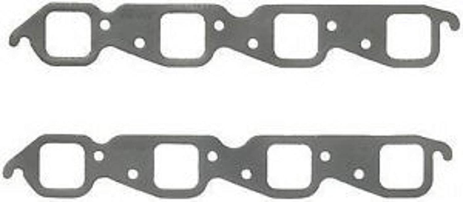 1410 style FACTORY PERFOMANCE BBC BIG BLOCK CHEVY EXHAUST GASKETS 1 PAIR SQUARE