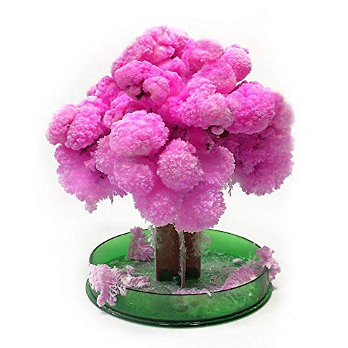 HYXJ Crystal Growing Tree Magic Cherry Tree Presents Novelty Kit for Kids Funny Educational Gifts and Party ()