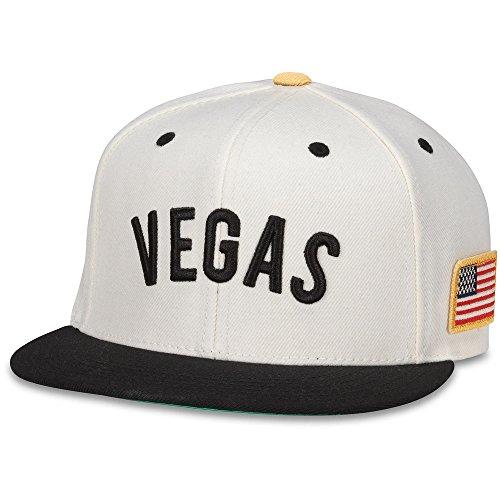 American Needle Vegas Golden Knights United Adjustable Snapback Hat (Ivory/Black) -