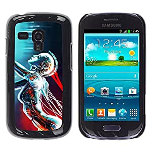 Exotic-Star ( Funny Sexy Robot Lady Sci Fi ) Fundas Cover Cubre Hard Case Cover para Samsung Galaxy S3 III MINI (NOT REGULAR!) / I8190 / I8190N