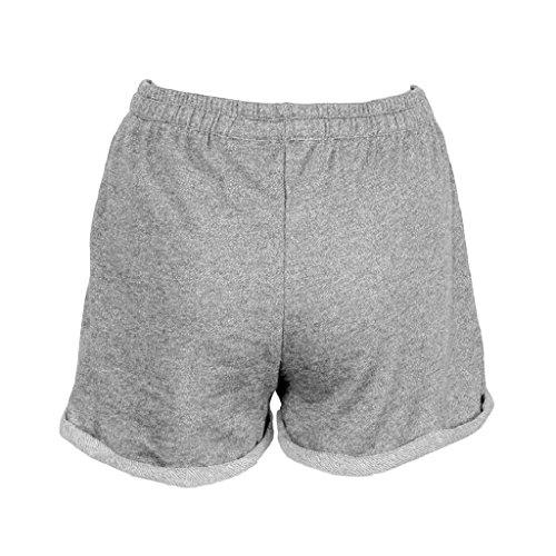 Sportivi Minetom Moda Donna Skinny Spiaggia Grigio Elastici Jogging Breve Estate Palestra Pantaloncini Hot Pants Yoga Shorts qzFrqECd