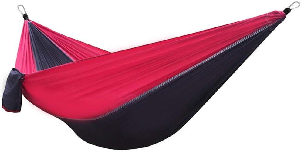 Multifuncional Doble Amacas Colgantes con Bolsa De Almacenamiento + Correa,300kg de Capacidad de Carga (300x200cm) Rojo Fundas Para Muebles De Jardin para Senderismo Al Aire Libre Viajes Playa Sup