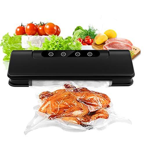 JYDAN Vacuum Sealer Food Preservation Dry Moist Food Modes Compact Design Led Indicator Lights Automatic Vacuum Air Sealing System (15 Sealing Bags+Hose) ()