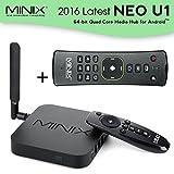 MINIX 2016 Latest NEO U1 Android 64-Bit Super HD 4K KODI XBMC 3D & Full 2160p H.265/HEVC TV Box Streaming Media Players with A2 Lite Air Mouse Remote Control