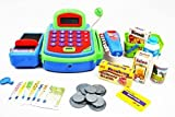 Pretend Play Electronic Cash Register Toy Realistic Actions & Sounds Green/Blue/Red Reviews