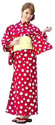 Kimura Jitsugyo Women's Kyoto Traditional Ready-Made Easy Wearing Kawaii Yukata Robe(Japanese Casual Kimono) Full Set 4