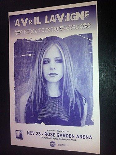 Avril Lavigne Rare Original Pop Punk Portland Concert Tour Gig Show Poster
