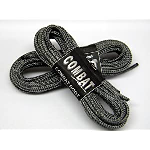 72 Inch Storm Grey Nylon Speedlace Tactical Boot Laces Shoelaces (2 pair pack)