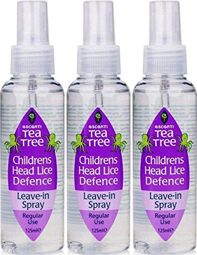 SIX PACKS of Escenti Tea Tree Children's Headlice Defence Spray 125ml FMCG Ltd