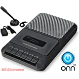 ONN Casette Recorder with Built in speaker and microphone ONA504 (Refurbished)