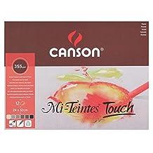 Canson : Mi-Teintes Touch Pastel Paper : Pad : 350gsm : 24x32cm