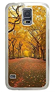 Samsung Galaxy S5 Yellow Trees in the Park PC Custom Samsung Galaxy S5 Case Cover Transparent
