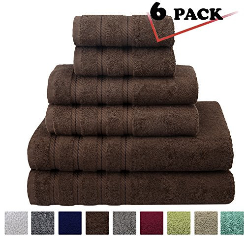 Premium, Luxury Hotel & Spa, 6 Piece Towel Set, Turkish Towels 100% Cotton for Maximum Softness and Absorbency by American Soft Linen, [Worth $72.95] (Chocolate Brown) - Country Towel Ring