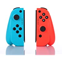 Wireless Joy Con Controller for Nintendo Switch, CuleedTec Joy Pad Controllers (L/R) with Gyro and Gravity for Nintendo Switch as a Joy-Con Controller Replacement– Blue/Red