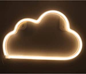 Cloud Light Neon Lights,Lamp Led Neon Sign Wall Light USB/Battery Operated Neon Signs Wall Decor Night Light for Kids Adult Room,Living Room,Bedroom,Bar,Christmas,Wedding,Party Light