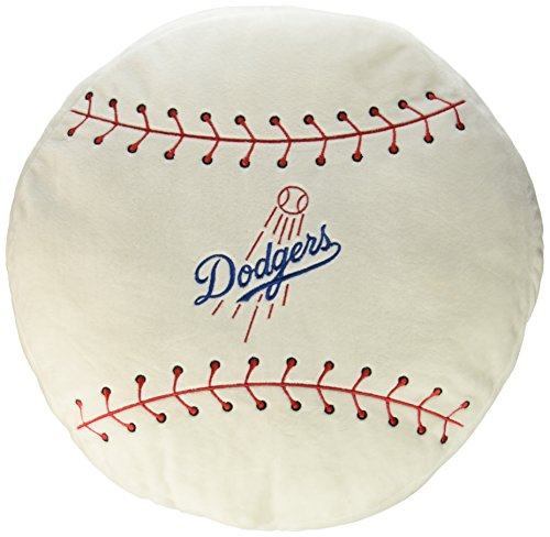 "Northwest MLB Los Angeles Dodgers Baseball Shaped 3D Sports Pillow, 15"" x 15"" x 2"""