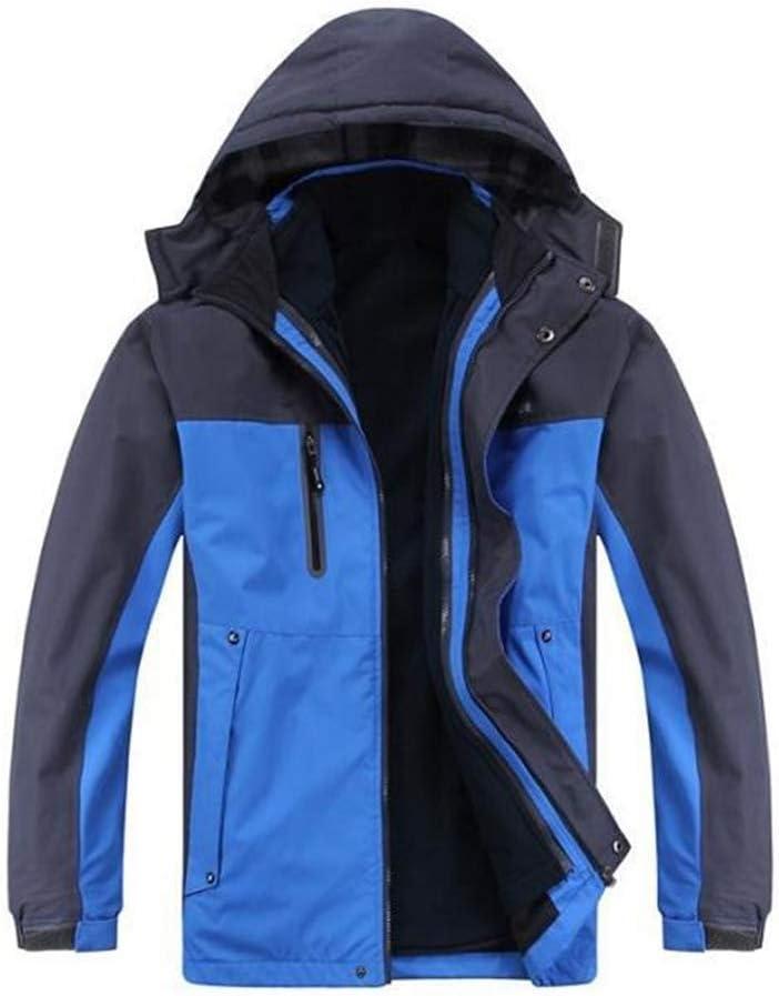 スキージャケット 冬の屋外スポーツに適したメンズマウンテン防水スキージャケット耐候性ジャケット 男性用と女性用の防水防風スキージャケット (色 : 青, サイズ : XXXXL) 青 XXXXL