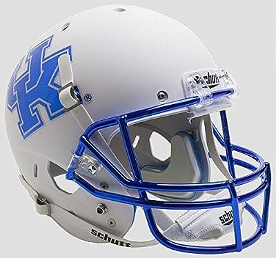 Kentucky Wildcats Full XP Replica Football Helmet Schutt Matte White Chrome Mask - Licensed NCAA Merchandise