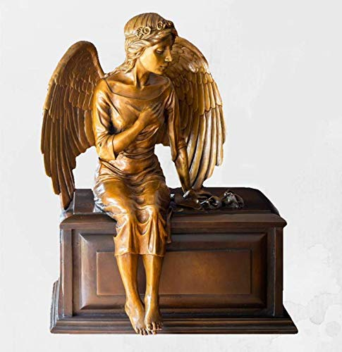 Handmade Bronze Angel Cremation Urn