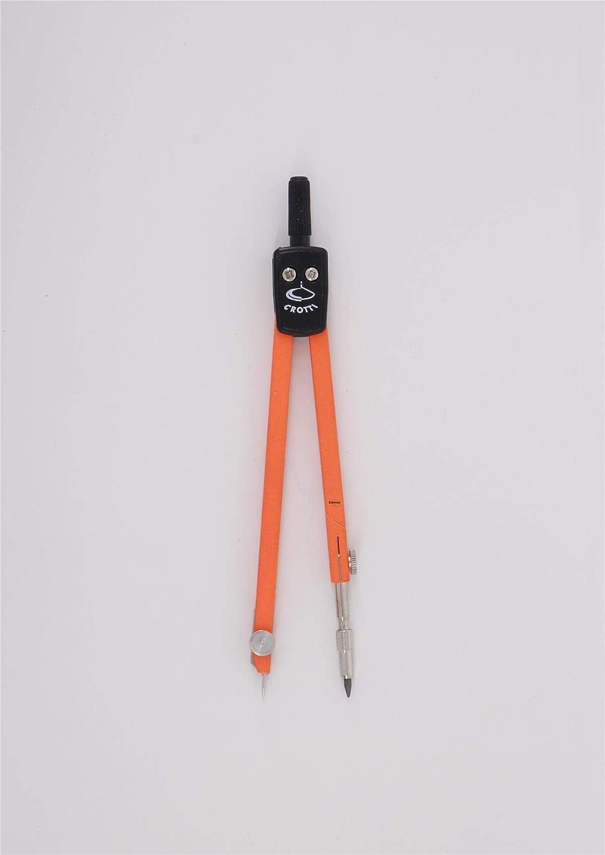 Compasso doppio snodo 150mm con ricambio mine Arancione fluo.