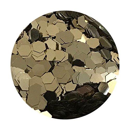 Glitter Pot - ( 221 Champagne Silver ) Chunky Festival Glitter Hexagon Glitter Eyes Nail Art Face And Body