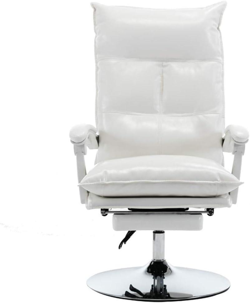KJRJZY Inicio silla de la computadora, Silla de oficina, elegante y cómodo sillón reclinable de belleza, silla ergonómica de alumnos, visite, Gaming Chair Deportes ordenador, buen cuero Silla vivo Red
