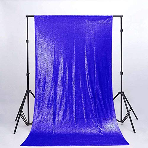 Sequin Backdrop 8FTx8FT-Royal Blue,Sequin Curtain Backdrop Photo Booth Wedding Props Glitter Party Background Decorations -