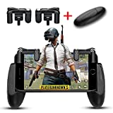 FengNiao Mobile Game Controller, 1 Pair Survival Game Triggers and 1 Pair Mobile Game Controller for Knives Out/PUBG/Rules of Survival, Mobile gamepad for 4.5-6.5inch Android IOS Phones