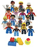 Best Toys Compatible With LEGOs - Adventure Figures Set Lego Duplo Compatible 16 Pieces Review