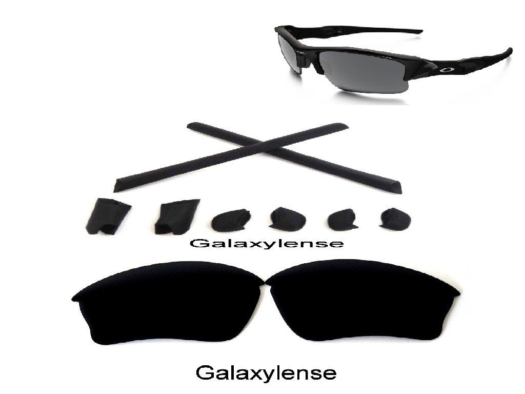 Galaxy Replacement Polarized Lenses + Rubber Kits For Oakley Half Jacket XLJ Black