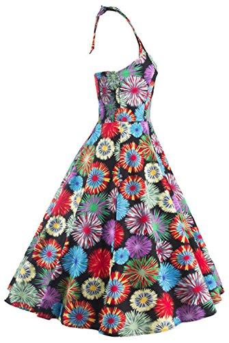 Elastische Mehrfarbig Welle Knielänge Baumwolle Dress Rock Damen V Wickelkleid Gitter Ausschnitt Halfter Elegant Bestfort Kleid Sommer Kleid p6fSnqa