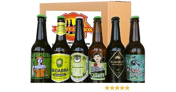 6 Cervezas ECOLOGICAS Artesanales Bio España PACK DEGUSTACION Regalo Kadabra Carmen Verea Curuxa Alboran Lolita CervezaBox: Amazon.es: Alimentación y bebidas
