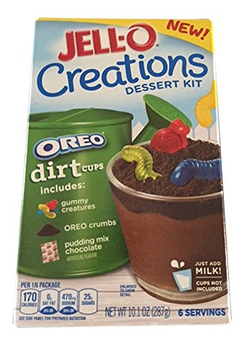 Jell-o Creations Dessert Kit Oreo Dirt cups- 2 Boxes]()