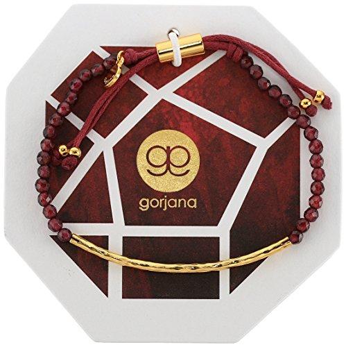 Gorjana Women's Power Gemstone Bracelet for Energy, Gold/Garnet, One Size