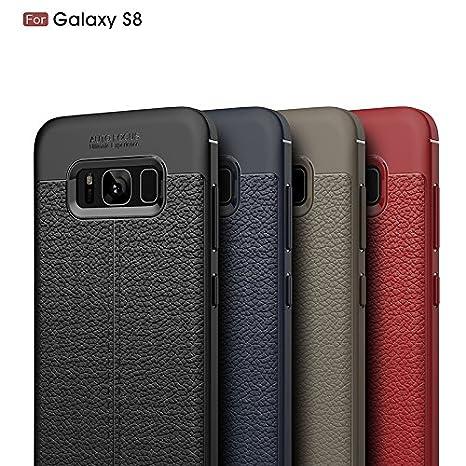 Funda Cuero para Samsung Galaxy S8 Carcasa Piel para Móvil ...