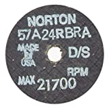 Norton Abrasives 66243522381 - Gemini Tool & Cutter Grinding Wheel - Grade: Coarse, Grit Number: 24, Wheel Diameter: 2-1/2 in, Maximum RPM: 21700 RPM