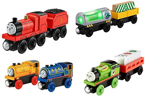 James, On the Glow Cars, Bill Ben, Racing Percy 4pk!! - Thomas Wooden Railway Tank Train Engine (Sodor Bakery Delivery)