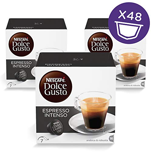 NESCAFÉ Dolce Gusto Coffee Capsules  Espresso Intenso  48 Single Serve Pods, (Makes 48 Cups)  48 Count (Dolce Expresso Gusto Capsules)