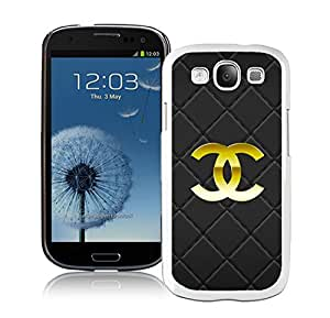 Fashion And Beautiful Custom Designed With CHANEL Logo Cover Case For Samsung Galaxy S3 I9300 Phone Case 50 White